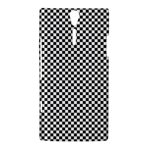 Sports Racing Chess Squares Black White Sony Xperia S
