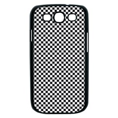 Sports Racing Chess Squares Black White Samsung Galaxy S III Case (Black)