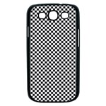 Sports Racing Chess Squares Black White Samsung Galaxy S III Case (Black) Front