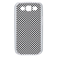 Sports Racing Chess Squares Black White Samsung Galaxy S III Case (White)