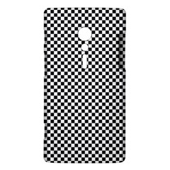 Sports Racing Chess Squares Black White Sony Xperia ion