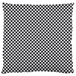 Sports Racing Chess Squares Black White Large Cushion Case (One Side) Front