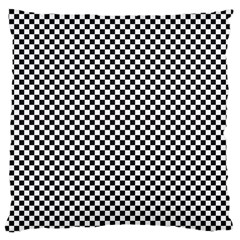 Sports Racing Chess Squares Black White Large Cushion Case (Two Sides)