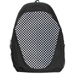 Sports Racing Chess Squares Black White Backpack Bag Front