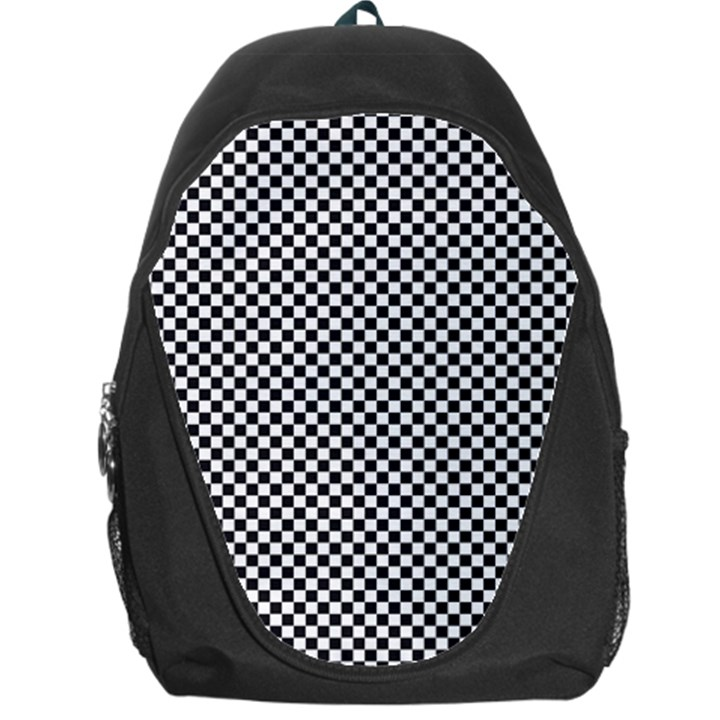 Sports Racing Chess Squares Black White Backpack Bag