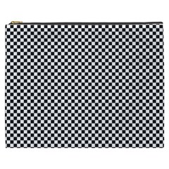 Sports Racing Chess Squares Black White Cosmetic Bag (XXXL)