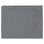 Sports Racing Chess Squares Black White Cosmetic Bag (XXXL)  Front
