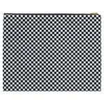 Sports Racing Chess Squares Black White Cosmetic Bag (XXXL)  Back