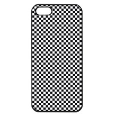 Sports Racing Chess Squares Black White Apple Iphone 5 Seamless Case (black)