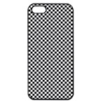Sports Racing Chess Squares Black White Apple iPhone 5 Seamless Case (Black) Front