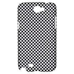 Sports Racing Chess Squares Black White Samsung Galaxy Note 2 Hardshell Case