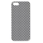 Sports Racing Chess Squares Black White Apple Seamless iPhone 5 Case (Clear) Front
