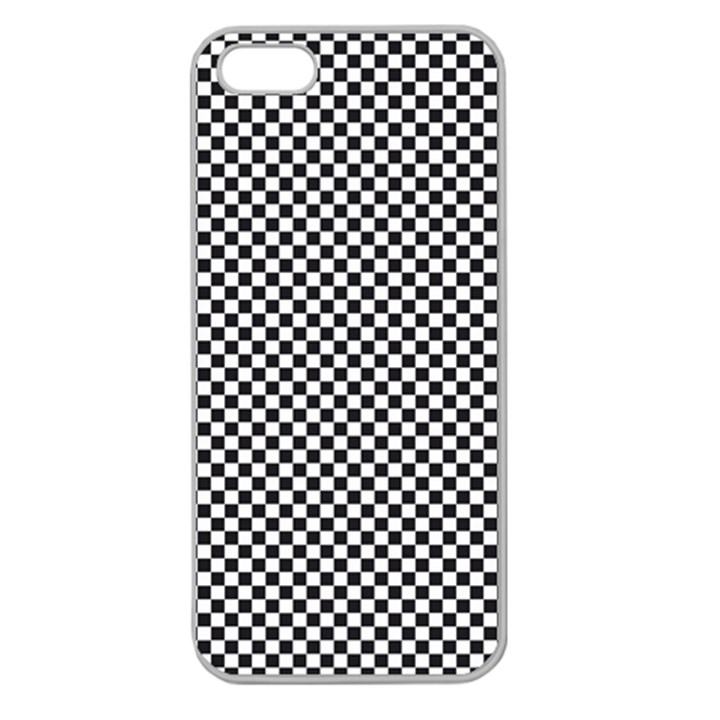 Sports Racing Chess Squares Black White Apple Seamless iPhone 5 Case (Clear)