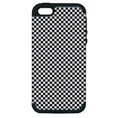Sports Racing Chess Squares Black White Apple iPhone 5 Hardshell Case (PC+Silicone)