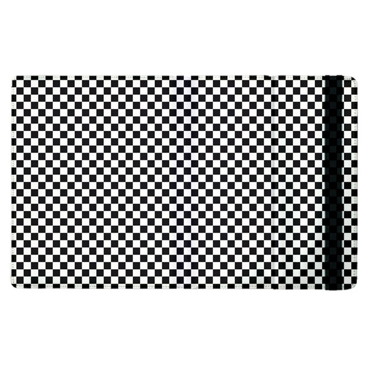 Sports Racing Chess Squares Black White Apple iPad 3/4 Flip Case
