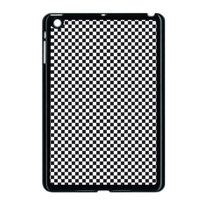 Sports Racing Chess Squares Black White Apple iPad Mini Case (Black)