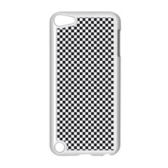 Sports Racing Chess Squares Black White Apple Ipod Touch 5 Case (white)