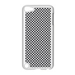 Sports Racing Chess Squares Black White Apple iPod Touch 5 Case (White) Front