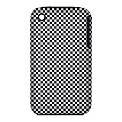 Sports Racing Chess Squares Black White Apple iPhone 3G/3GS Hardshell Case (PC+Silicone)