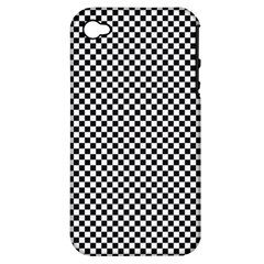Sports Racing Chess Squares Black White Apple iPhone 4/4S Hardshell Case (PC+Silicone)