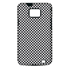 Sports Racing Chess Squares Black White Samsung Galaxy S II i9100 Hardshell Case (PC+Silicone)