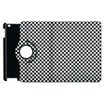 Sports Racing Chess Squares Black White Apple iPad 3/4 Flip 360 Case Front