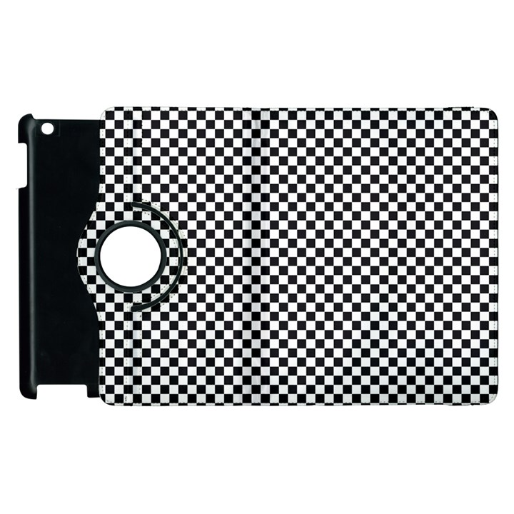 Sports Racing Chess Squares Black White Apple iPad 3/4 Flip 360 Case