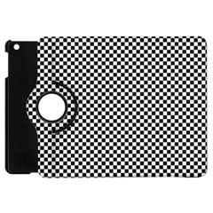 Sports Racing Chess Squares Black White Apple iPad Mini Flip 360 Case