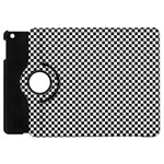 Sports Racing Chess Squares Black White Apple iPad Mini Flip 360 Case Front