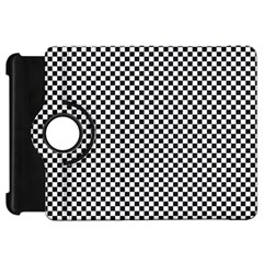Sports Racing Chess Squares Black White Kindle Fire Hd Flip 360 Case