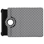 Sports Racing Chess Squares Black White Kindle Fire HD Flip 360 Case Front