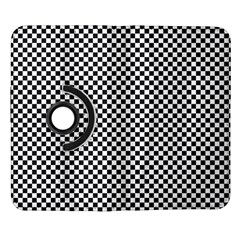 Sports Racing Chess Squares Black White Samsung Galaxy Note II Flip 360 Case
