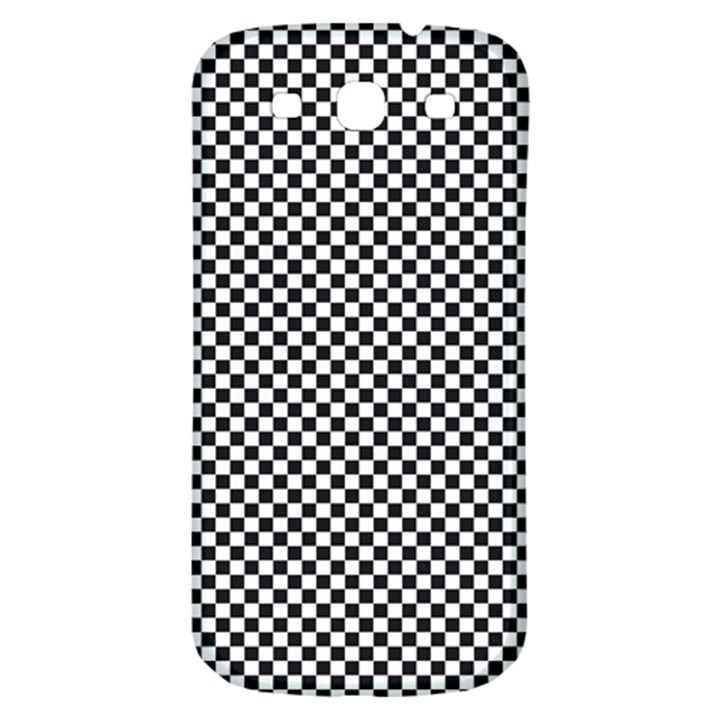 Sports Racing Chess Squares Black White Samsung Galaxy S3 S III Classic Hardshell Back Case