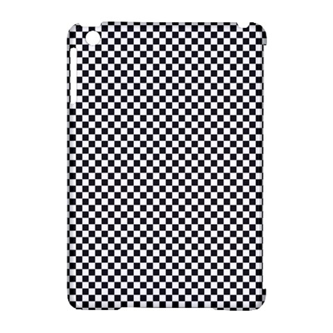 Sports Racing Chess Squares Black White Apple iPad Mini Hardshell Case (Compatible with Smart Cover)