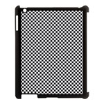 Sports Racing Chess Squares Black White Apple iPad 3/4 Case (Black) Front