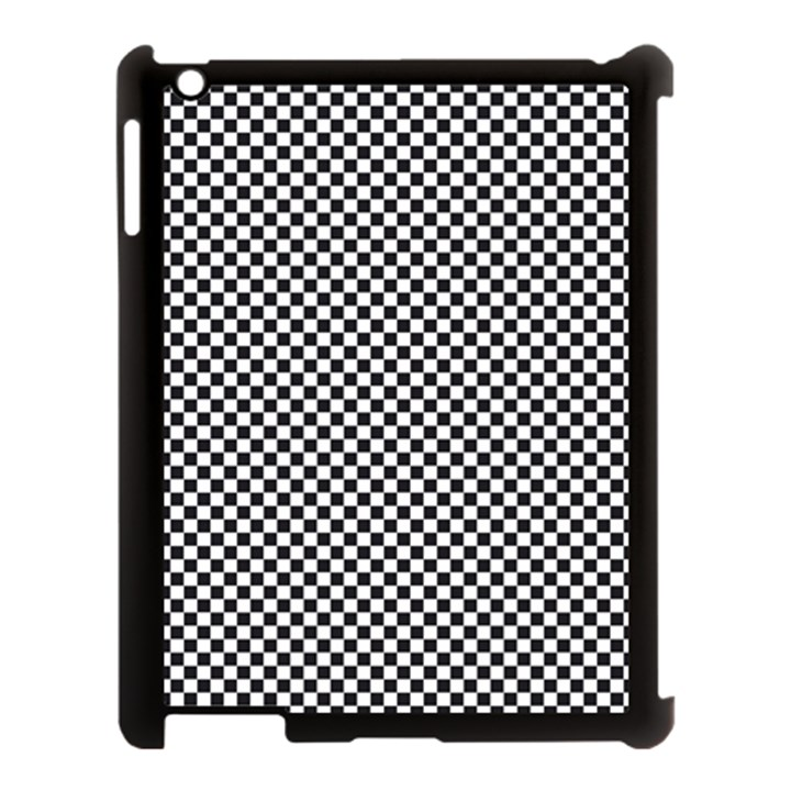 Sports Racing Chess Squares Black White Apple iPad 3/4 Case (Black)
