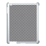 Sports Racing Chess Squares Black White Apple iPad 3/4 Case (White) Front
