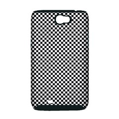 Sports Racing Chess Squares Black White Samsung Galaxy Note 2 Hardshell Case (PC+Silicone)