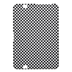 Sports Racing Chess Squares Black White Kindle Fire Hd 8 9