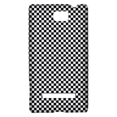 Sports Racing Chess Squares Black White HTC 8S Hardshell Case