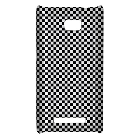 Sports Racing Chess Squares Black White HTC 8X