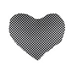Sports Racing Chess Squares Black White Standard 16  Premium Heart Shape Cushions Front
