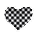 Sports Racing Chess Squares Black White Standard 16  Premium Heart Shape Cushions Back