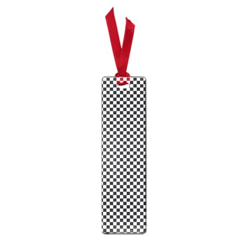 Sports Racing Chess Squares Black White Small Book Marks