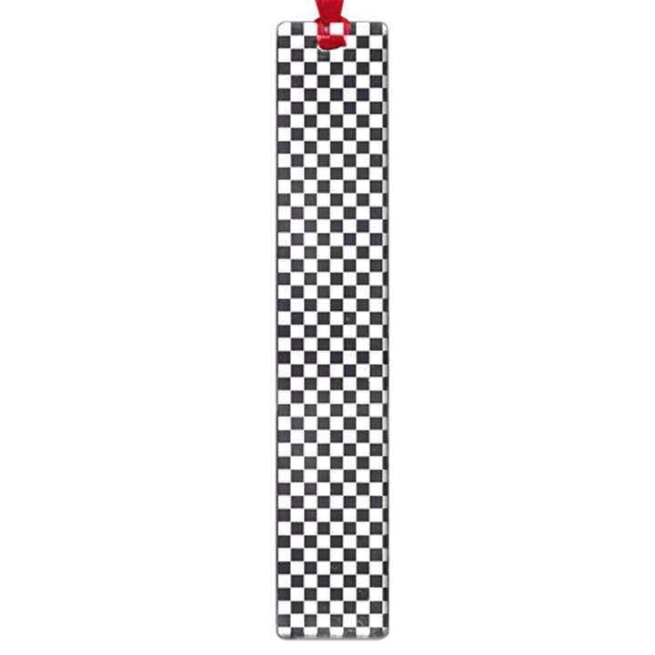 Sports Racing Chess Squares Black White Large Book Marks