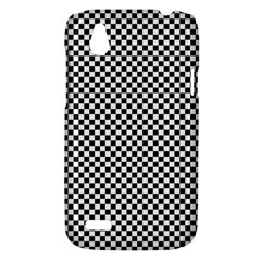 Sports Racing Chess Squares Black White HTC Desire V (T328W) Hardshell Case