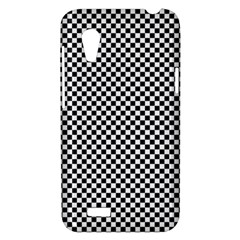 Sports Racing Chess Squares Black White HTC Desire VT (T328T) Hardshell Case