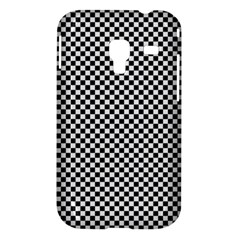 Sports Racing Chess Squares Black White Samsung Galaxy Ace Plus S7500 Hardshell Case