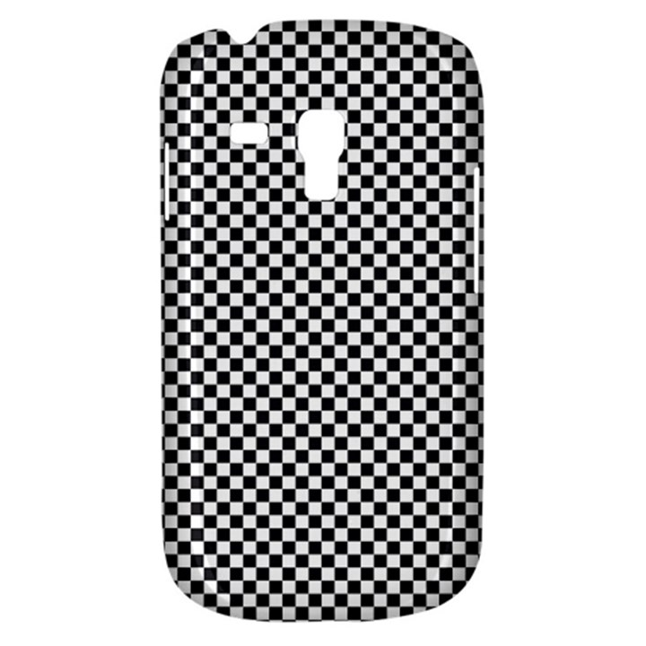 Sports Racing Chess Squares Black White Samsung Galaxy S3 MINI I8190 Hardshell Case