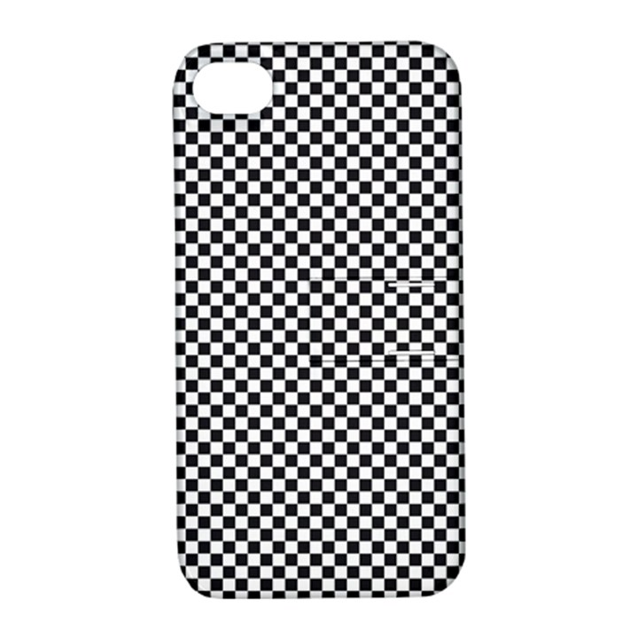 Sports Racing Chess Squares Black White Apple iPhone 4/4S Hardshell Case with Stand